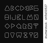 thin minimalistic font.... | Shutterstock .eps vector #645653527