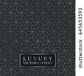 luxury seamless geometric...   Shutterstock .eps vector #645653593