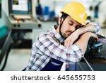 Tired Worker Fall Asleep Durin...