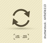 arrow circle line vector icon | Shutterstock .eps vector #645656113