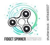 fidget spinner text info and... | Shutterstock .eps vector #645660037