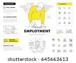 business employment big modern... | Shutterstock .eps vector #645663613