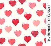 heart balloons. seamless vector ...   Shutterstock .eps vector #645670267