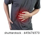 businessman stomachache attack... | Shutterstock . vector #645676573