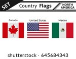 set countries flags north... | Shutterstock .eps vector #645684343