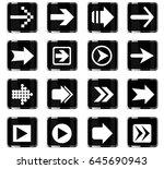 arrow web icons for user... | Shutterstock .eps vector #645690943