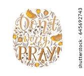 vector religions lettering. don'... | Shutterstock .eps vector #645692743