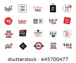 twenty sale letterings set | Shutterstock .eps vector #645700477