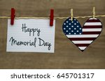 happy memorial day greeting... | Shutterstock . vector #645701317