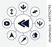 next icons set. set of 9 next... | Shutterstock .eps vector #645702793