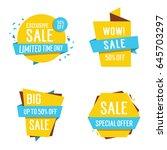 big sale lettering | Shutterstock .eps vector #645703297