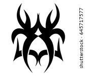 tattoo tribal vector design.... | Shutterstock .eps vector #645717577