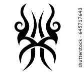 tribal tattoo art designs.... | Shutterstock .eps vector #645717643
