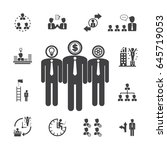 salaryman   team management... | Shutterstock .eps vector #645719053