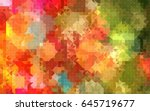 geometric pattern abstract... | Shutterstock . vector #645719677