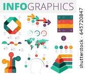infographics design elements... | Shutterstock .eps vector #645720847