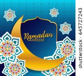 ramadan kareem greeting card | Shutterstock .eps vector #645727243