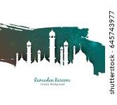 abstract ramadan kareem...   Shutterstock .eps vector #645743977