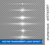 lens flare light shine or... | Shutterstock .eps vector #645765397