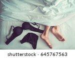 underwear on bed ready to wear... | Shutterstock . vector #645767563