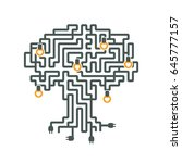 drawing a maze of electrical... | Shutterstock .eps vector #645777157