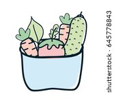 fresh and delicious vegetables... | Shutterstock .eps vector #645778843