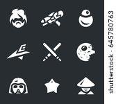 space war icons.   Shutterstock . vector #645780763