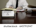 young attorney lawyer at desk... | Shutterstock . vector #645791947