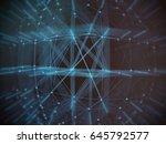 abstract technology network... | Shutterstock . vector #645792577