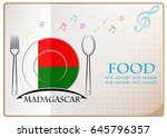 food logo made from the flag of ... | Shutterstock .eps vector #645796357