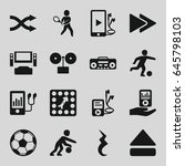 player icons set. set of 16... | Shutterstock .eps vector #645798103