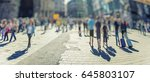 crowd of anonymous people... | Shutterstock . vector #645803107
