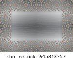 traditional folk art knitted... | Shutterstock .eps vector #645813757