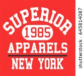 athletic varsity typography ...   Shutterstock .eps vector #645814087