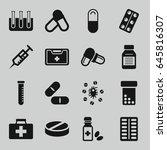 medication icons set. set of 16 ...   Shutterstock .eps vector #645816307