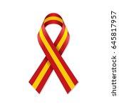 spain flag ribbon | Shutterstock .eps vector #645817957