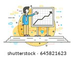 vector illustration orator... | Shutterstock .eps vector #645821623