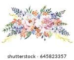 flower bouquet | Shutterstock . vector #645823357