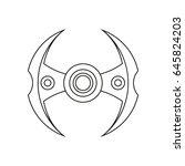 spinner for a hand. stress... | Shutterstock .eps vector #645824203