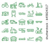 vehicle icons set. set of 25... | Shutterstock .eps vector #645824317