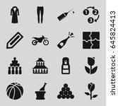 sketch icons set. set of 16... | Shutterstock .eps vector #645824413