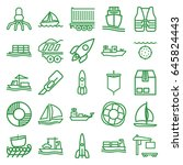ship icons set. set of 25 ship... | Shutterstock .eps vector #645824443