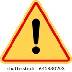 warning icon  attention icon.... | Shutterstock .eps vector #645830203