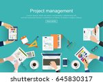 flat design.project management ... | Shutterstock .eps vector #645830317