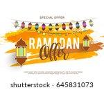 illustration of ramadan sale... | Shutterstock .eps vector #645831073