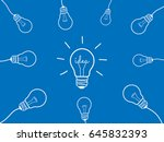 concept set light bulb design... | Shutterstock .eps vector #645832393