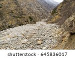 Small photo of Moraine is accumulation of unconsolidated glacial debris (soil and rock) that occurs in both currently and formerly glaciated regions carried along by a glacier through geomorphological processes.
