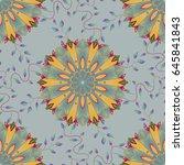 textile print for bed linen ... | Shutterstock .eps vector #645841843
