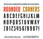 narrow sanserif font with... | Shutterstock .eps vector #645848893
