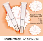 template and cosmetic design.... | Shutterstock .eps vector #645849343